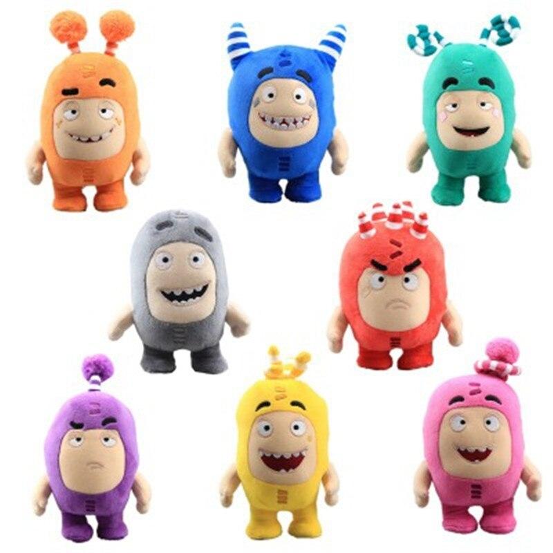 8pcs/Lot 18cm Oddbods Anime Plush Fuse Pogo Bubbles Slick Zeke Jeff Stuffed Dolls Cute Cartoon Peluche Toys for Children Gifts